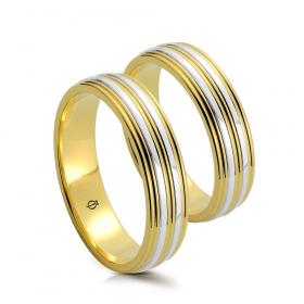 Złote obrączki Ombra Lucente Versione