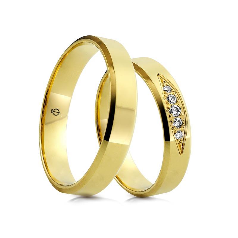 Złote obrączki C101
