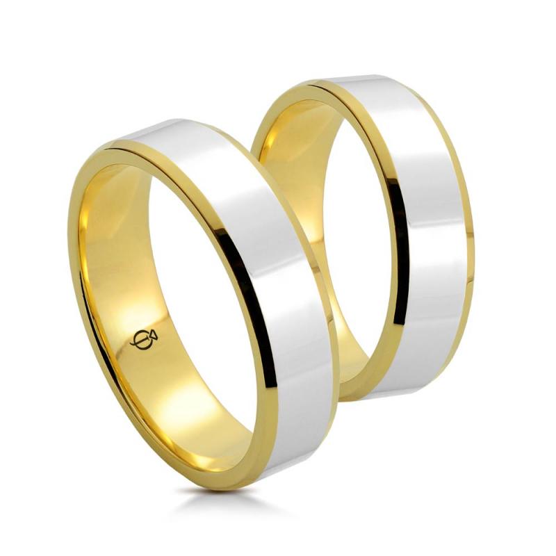 Złote obrączki P5001