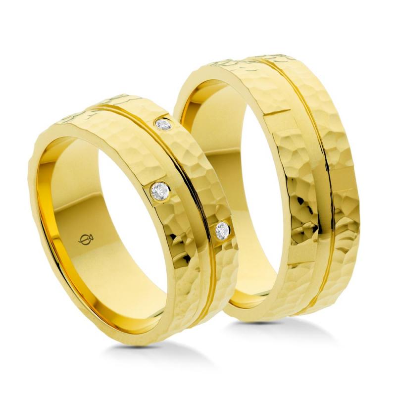 Złote obrączki P7004