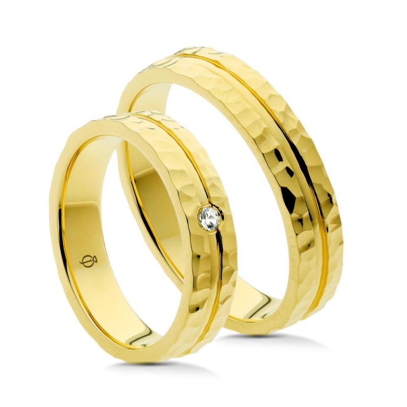 Złote obrączki P4504