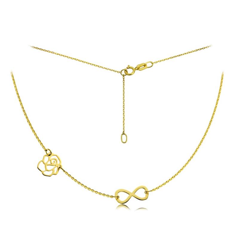Celebrytka złota Infinity & Rosse