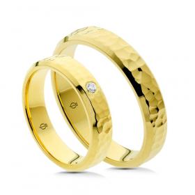 Złote obrączki P4505