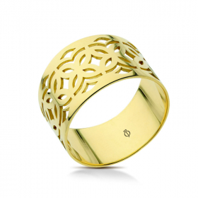 Pierścionek złoty ażurowy - Rosette