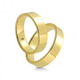Złote Obrączki Classico Piatto 6mm Żółte Złoto
