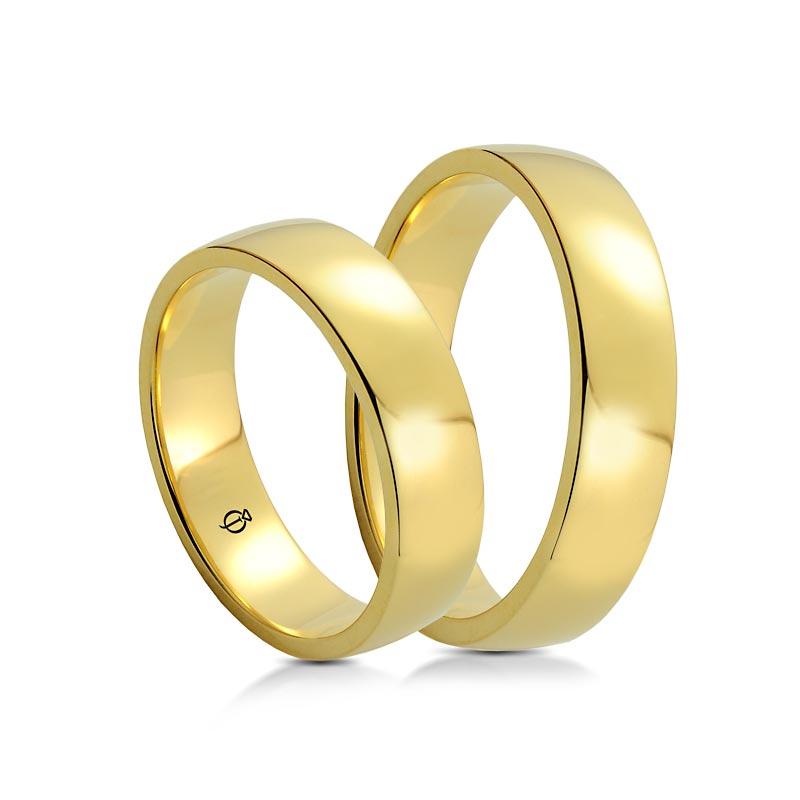 Złote Obrączki Classico Prima 6mm Żółte Złoto