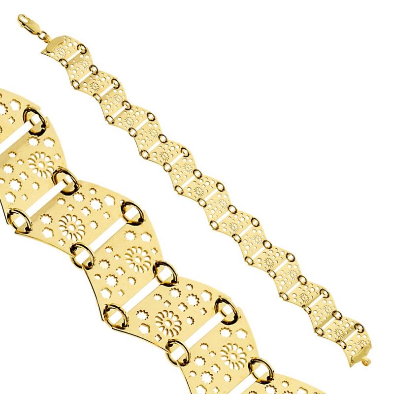 Bransoletka złota Flowers 2