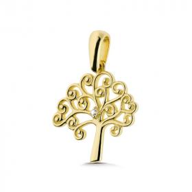Zawieszka złota - Drzewko szczęścia W187