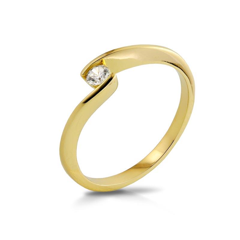 Pierścionek złoty P1956