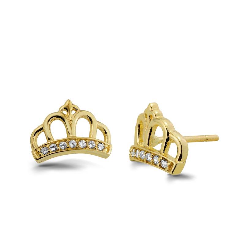 Kolczyki złote - Couronne K414