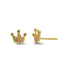 Kolczyki złote - Korona K412
