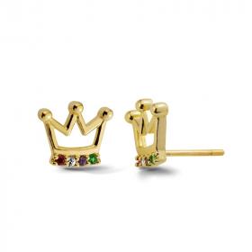Złote kolczyki - Crown