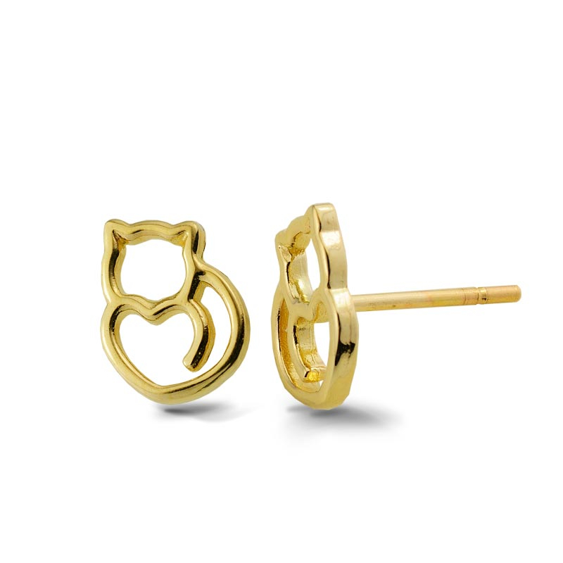 Kolczyki złote - Kotki K409