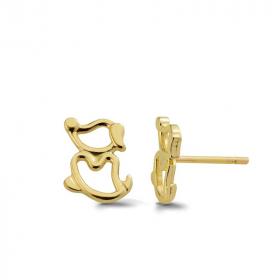 Złote kolczyki - Pieski K 417
