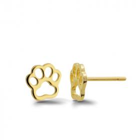 Kolczyki złote - Psia łapka K416