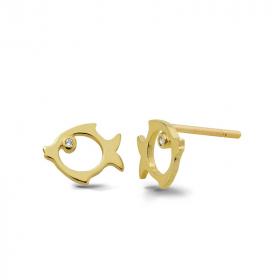 Kolczyki złote - Rybki K 419