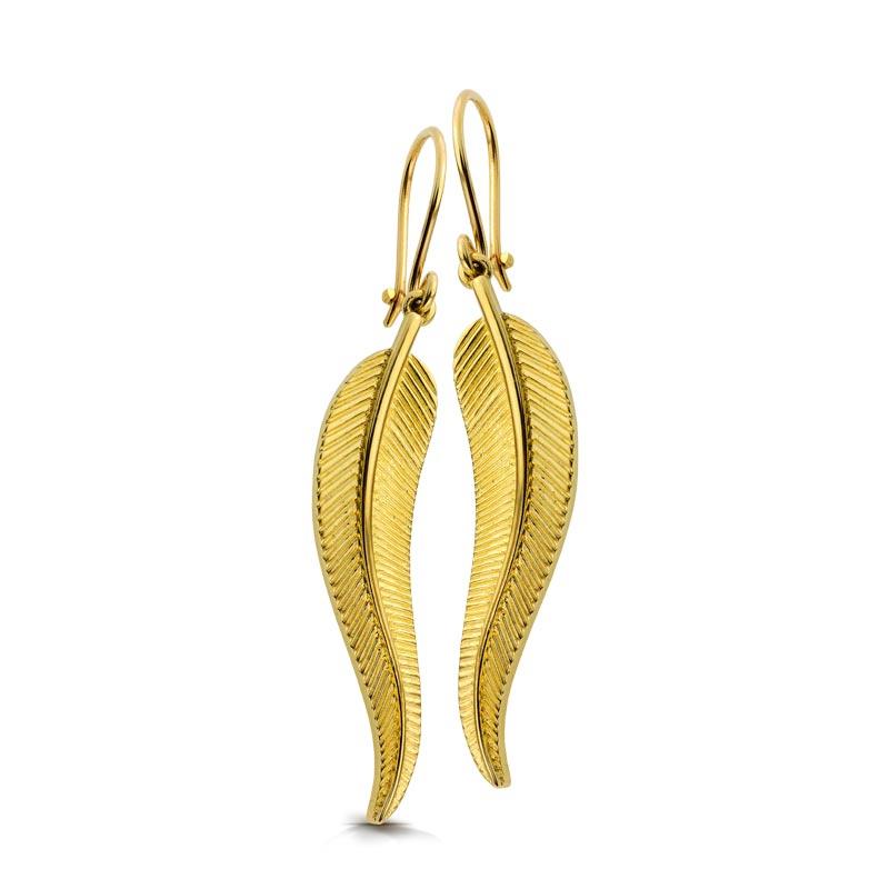 Kolczyki złote - Leaves K411