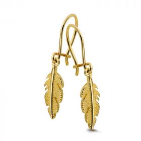 Kolczyki złote - Liście K410