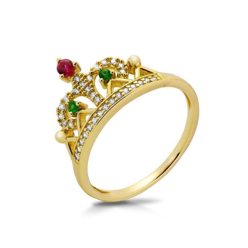 Pierścionek złoty - Crown P1954