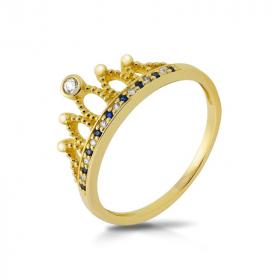 Pierścionek złoty - Korona P1949