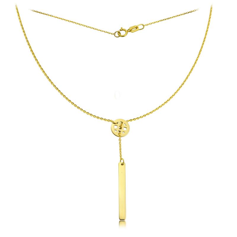 Naszyjnik złota krawatka