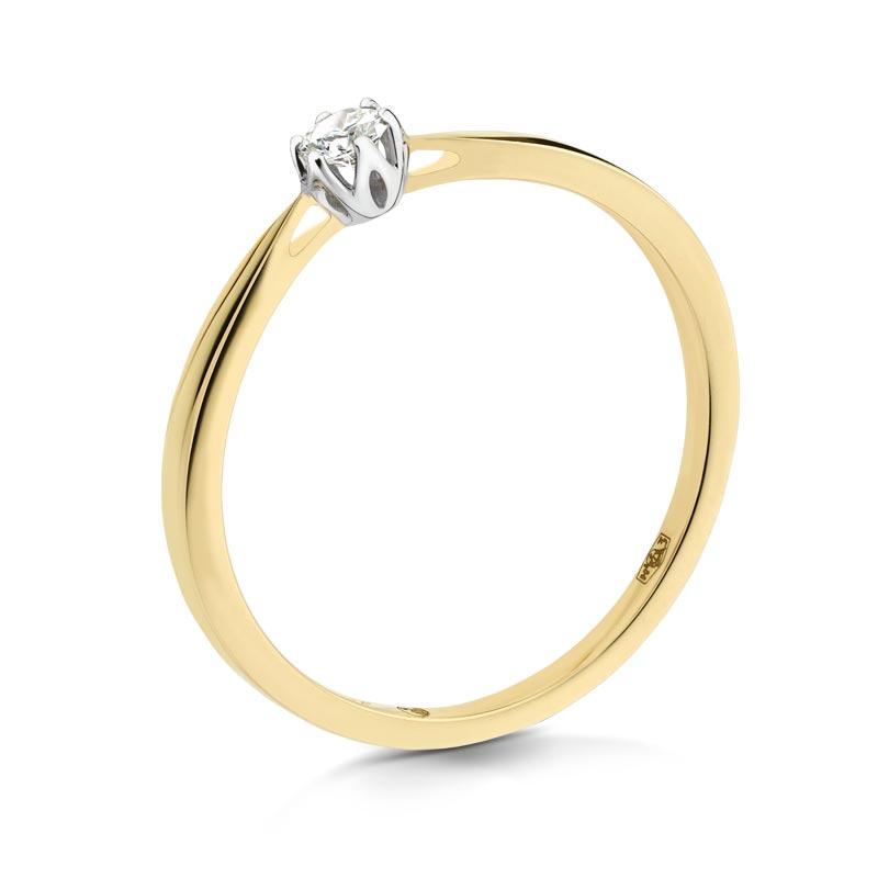 Pierścionek złoty z brylantem A151_10