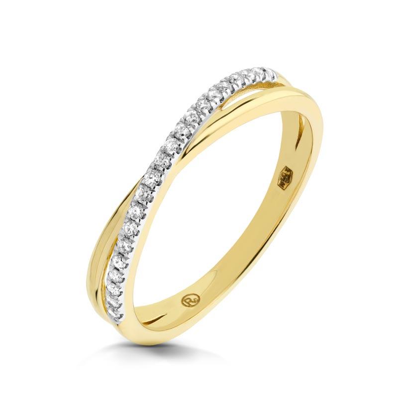 Pierścionek złoty z brylantami K 140