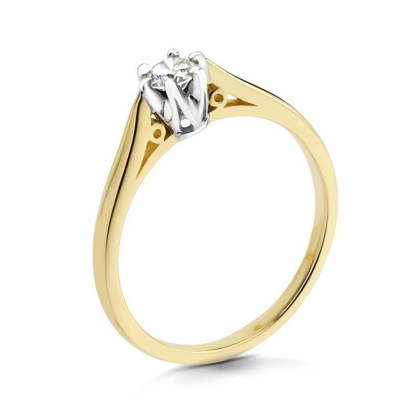 Pierścionek złoty z brylantem C1618_10