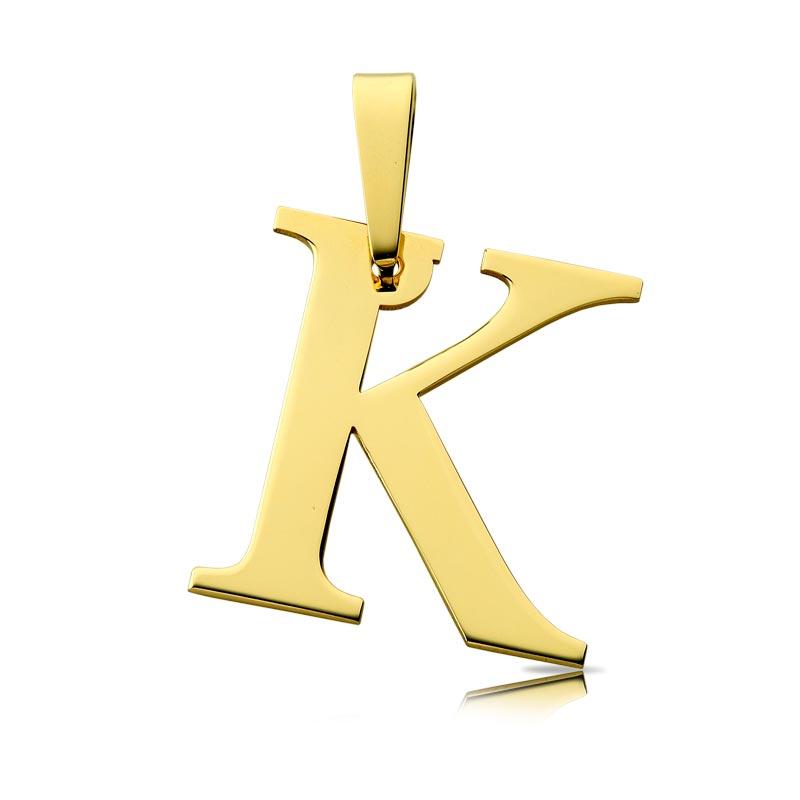 Litera złota K duża