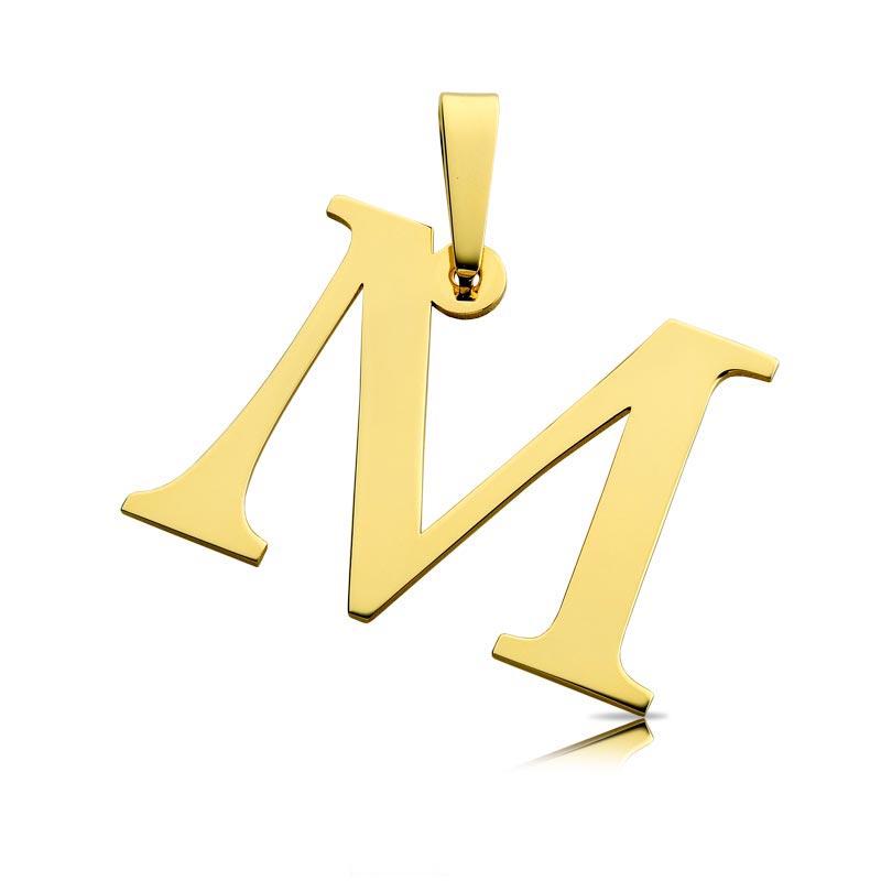 Litera złota M duża