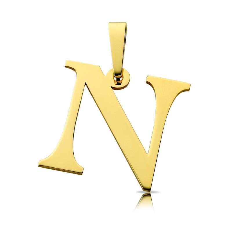 Litera złota N