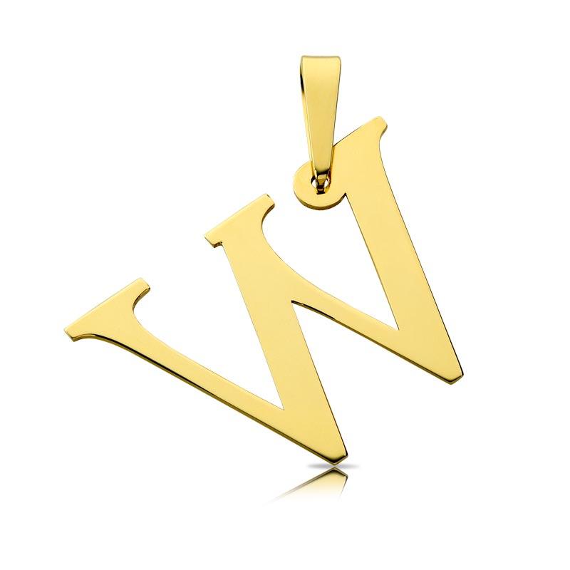 Litera złota W duża