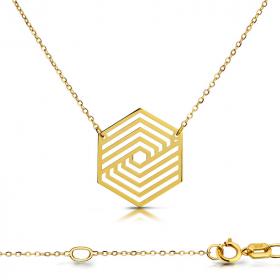 Celebrytka złota - Sześciokąt