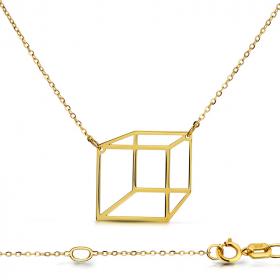 Celebrytka złota - Sześcian Przestrzenny