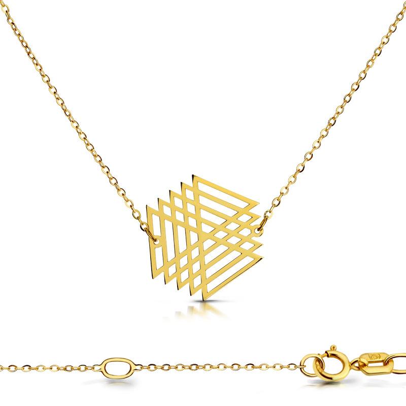Celebrytka złota - Wirujący Trójkąt C148