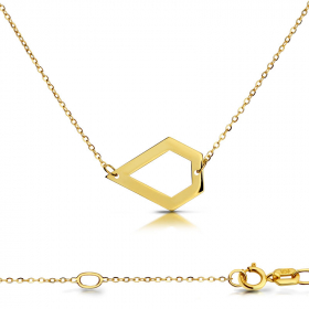Celebrytka złota - Pięciobok C153
