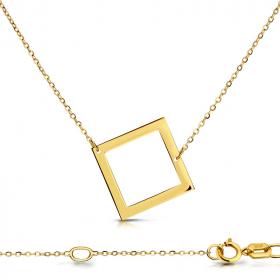 Celebrytka złota -kwadrat C155