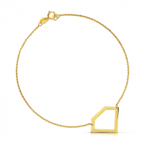 Bransoletka złota - Geometryczny Brylant