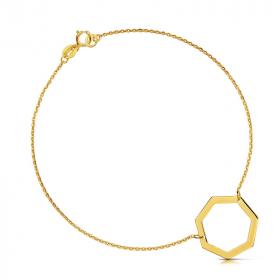 Bransoletka złota - Wielokąt Siedmioboczny C142