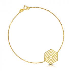 Bransoletka złota - Sześciokąt C143