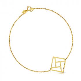 Bransoletka złota - Twister c144