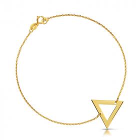 Bransoletka złota - Trójkąt c 145