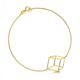 Bransoletka złota - Sześcian Przestrzenny c146