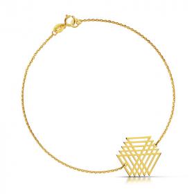 Bransoletka złota - Wirujący Trójkąt c148