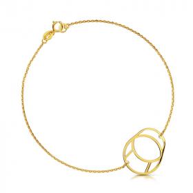 Bransoletka złota - Walec  c 150