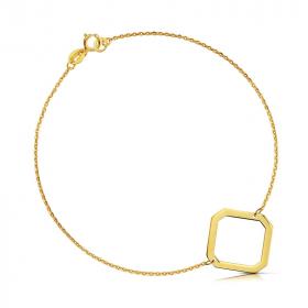 Bransoletka złota - Ośmiokąt c152