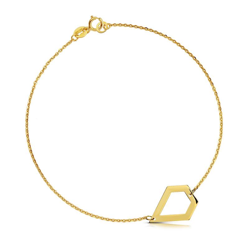 Bransoletka złota - Pięciobok c153