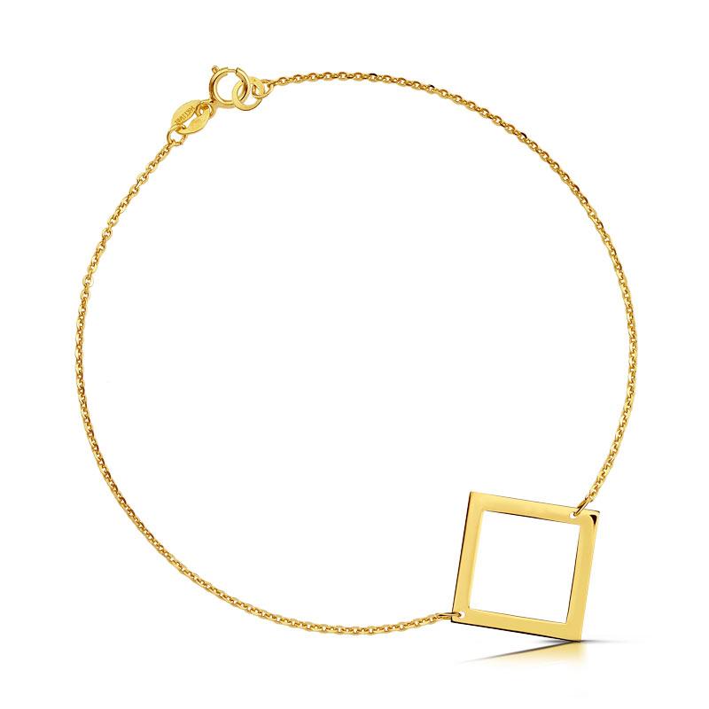Bransoletka złota - Kwadrat c155