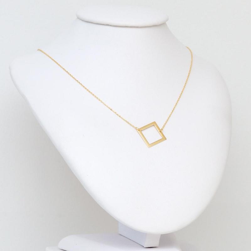 Naszyjnik złoty Kwadrat