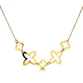 Złoty naszyjnik Trefle